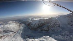 飞机飞行在喜马拉雅山 影视素材