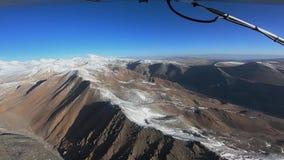 飞机飞行在喜马拉雅山 股票视频