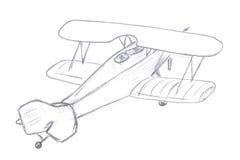 飞机飞行草图 库存照片