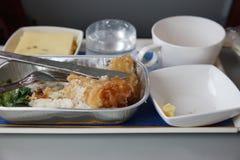 飞机食物 免版税库存照片