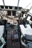 飞机驾驶舱军事现代 免版税库存图片