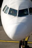 飞机驾驶舱鼻子 免版税库存照片