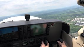 飞机驾驶舱,飞行员仪器,航海 股票视频