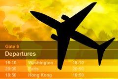 飞机黑色日落 库存图片