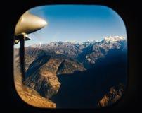 从飞机,尼泊尔的喜马拉雅山 免版税库存图片