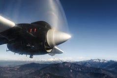 从飞机,尼泊尔的喜马拉雅山 免版税库存照片