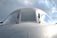 飞机,正面图 免版税图库摄影