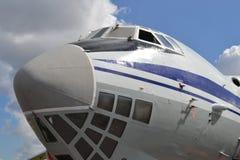 飞机,正面图 库存照片