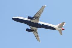 飞机离开 图库摄影