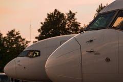 飞机画象  免版税库存照片