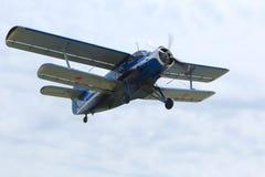 飞机An-2在罗斯托夫地区,俄罗斯 2015年4月18日 免版税图库摄影