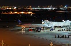 飞机jetblue乘客 图库摄影