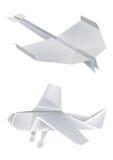 飞机origami 库存照片