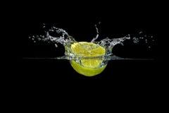 飞溅柠檬 库存图片