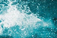 飞溅水波作为抽象背景 库存照片