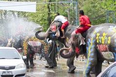 飞溅节日的水在泰国 库存照片