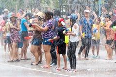 飞溅节日的水在泰国 库存图片
