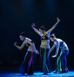 水飞溅节日这全国民间舞 免版税库存照片