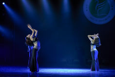 水飞溅节日这全国民间舞 免版税库存图片