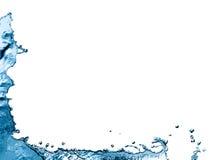 水飞溅边界 库存图片