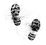 飞溅鞋子印刷品 库存照片