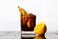 飞溅饮料 免版税图库摄影