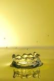 飞溅黄色 免版税库存照片