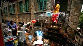 飞溅水的节日 免版税库存图片