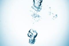 水飞溅 免版税库存照片