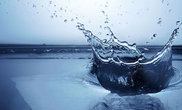 冻结水飞溅 免版税库存图片