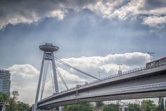 飞碟塔在布拉索夫,斯洛伐克 免版税库存照片