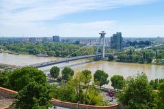 飞碟桥梁在布拉索夫,斯洛伐克 库存图片