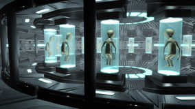 飞碟的内部的动画与外籍人的 圈能4K