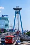 飞碟餐馆,新的桥梁,布拉索夫,斯洛伐克 免版税库存图片