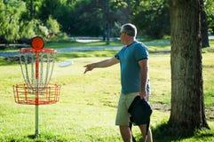 飞碟高尔夫球 免版税库存图片