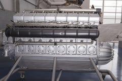 飞艇兴登堡戴姆勒苯DB 602 & x28的引擎; 1933& x29; 免版税库存照片
