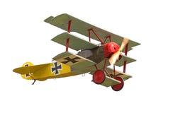 飞行三翼飞机葡萄酒 库存照片