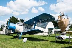 飞行与推进器在航空博物馆在克拉科夫 免版税库存图片