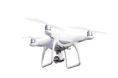 飞行与照相机的直升机寄生虫 演播室射击,被隔绝 图库摄影