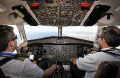 飞行中ATR的客舱 库存图片