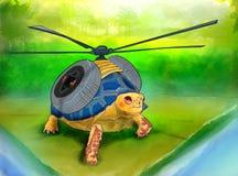 飞行乌龟 库存图片