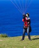 飞行人降伞准备 库存照片