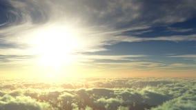 飞行到太阳 向量例证
