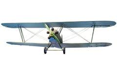 飞行双翼飞机 图库摄影