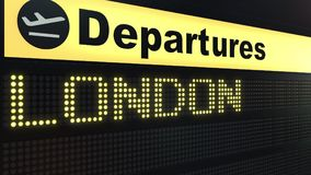 飞行向国际机场离开的伦敦上 旅行到英国概念性3D翻译 向量例证