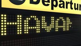 飞行向国际机场离开的哈瓦那上旅行到古巴 向量例证