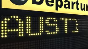 飞行向国际机场离开的奥斯汀上 旅行到美国概念性介绍动画 向量例证