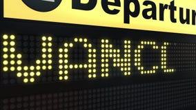 飞行向国际机场离开的温哥华上旅行到加拿大 库存例证