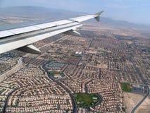 飞行向拉斯维加斯,亚利桑那,美国 图库摄影