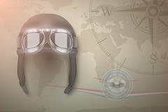 飞行员传染媒介背景 库存照片
